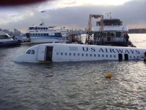 USAirways in the water